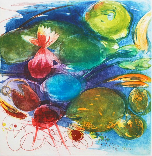 Noelle O'Keefe, September Pond, Goldfish