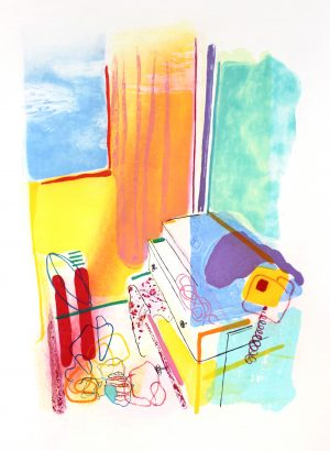 Graphic Studio Dublin •Aoife Scott: Sky Blue Sky, 2016 Etching, aquatint & carborundum Paper size: 72h x 90w cm Image size: 59h x 77w cm