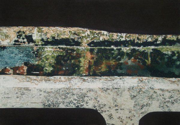 Stephen-Vaughan-A-Walk-in-St-Mullins-2015-etching-carborumdum(50cm-x-70cm)-€500