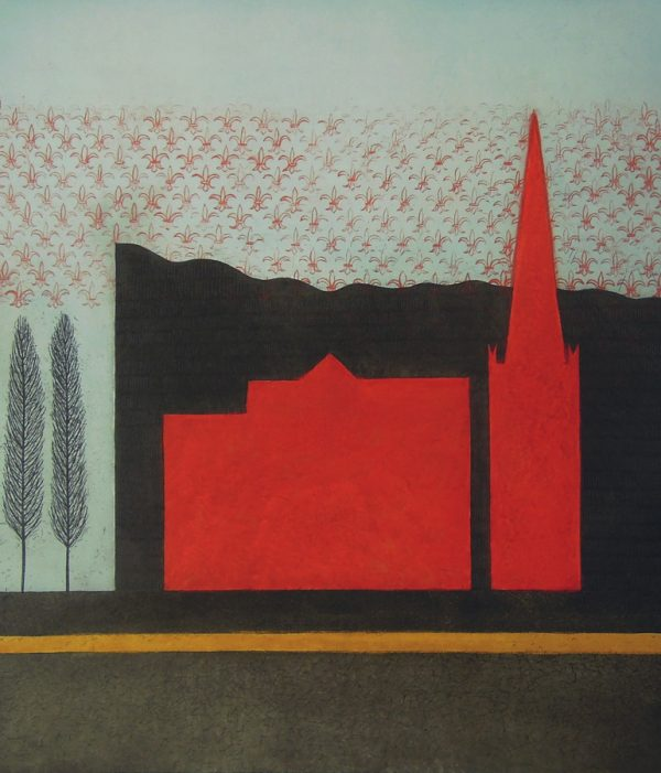 Vaida Varnagiene_The Cathedral_2017_Intaglio etching_image and paper size 46x40 cm_price 260 Euro