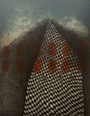 Graphic Studio Dublin •Vaida Varnagiene: Vaida Varnagiene_Tower 1_2016_Intaglio etching_image size 26x20 cm_paper size 40x30 cm_220 Euro (1)
