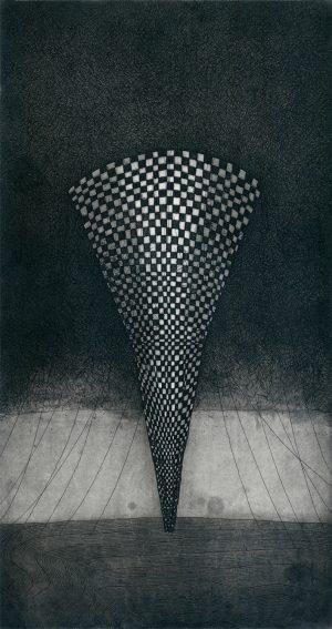 Graphic Studio Dublin •Vaida Varnagiene: Vaida Varnagiene_Tower 2_2016_Intaglio etching_image size 34x18 cm_paper size 46x28 cm_price 180 Euro
