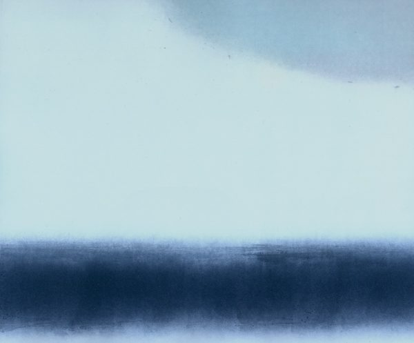 these are the thoughts we have looking out train windows iii, clare henderson, monoprint