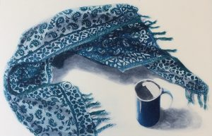 Graphic Studio Dublin • Ruth O'Donnell: Graphic Studio Dublin: Blue Cups 5