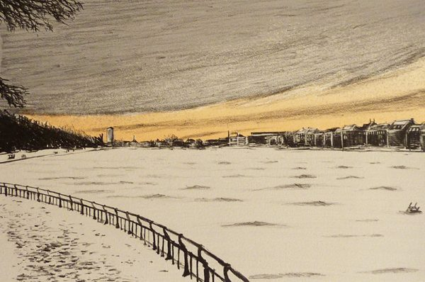 Michael Timmins, Frozen Lake Edition of 30 Lithograph Paper size: 34h x 42.7w cm €295 unframed