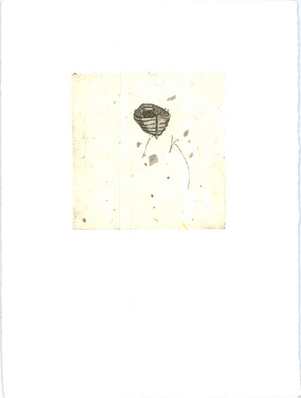 Merijean Morrissey, Glandelow Boat, 2012, Chine-Colle etching, (10cm x 10cm) 25.5cm x 19cm, 4.5cm, price