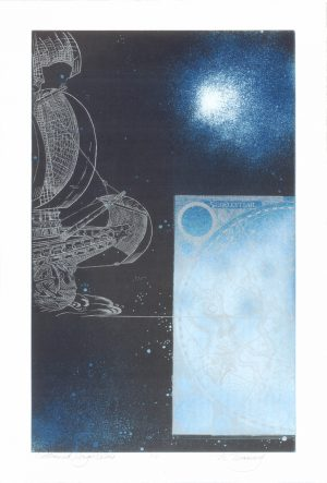 Graphic Studio Dublin •Merijean Morrissey: Outbound_ Argo Navis, 2011, etching, (47cm x 29cm), 80cm x 59cm, 10cm, price