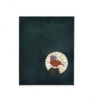 Graphic Studio Dublin •Merijean Morrissey: Painted Bunting, 2014, etching, (34.5 cm x 27.5 cm) 52 cm x 42cm, 8cm, price