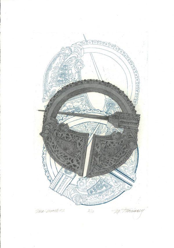 Merijean Morrissey, Tara Brooch #2, 2017, etching, (35cm x 22cm) 50cm x 35cm, 6.5cm, price