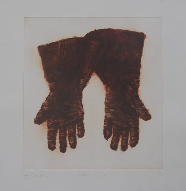 John Campion, Collins's Gauntlets 1997, etching 45cm x 42cm, p 78cm x 71cm, top margin 14.5cm, price €300