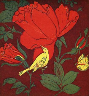 Graphic Studio Dublin • Ruth O'Donnell: Ruth O'Donnell, Nightingale in the Rose Garden