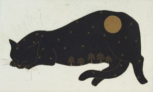 Graphic Studio Dublin • Yoko Akino: Cat and the moon