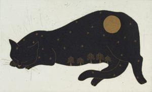 Graphic Studio Dublin •Yoko Akino: Cat and the moon