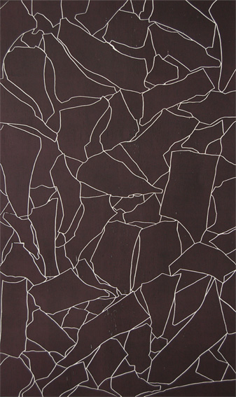 Tom Phelan, Line Drawing II woodblock Somerset Satin paper 85 x 141 cm edition of 12