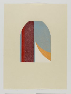 Graphic Studio Dublin • Tom Phelan: Lipstick X woodblock Japanese Bunkoshi paper 56 x 43 cm image size: 28 x 20.5 cm top border from paper: 12cm edition of 12