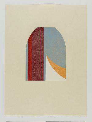 Graphic Studio Dublin •Tom Phelan: Lipstick X woodblock Japanese Bunkoshi paper 56 x 43 cm image size: 28 x 20.5 cm top border from paper: 12cm edition of 12