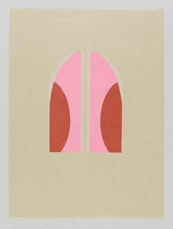 Lipstick III woodblock Japanese Bunkoshi paper 56 x 43 cm image size: 28 x 20.5 cm top border from paper: 12cm edition of 12