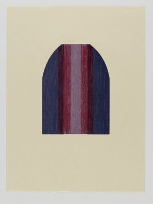 Graphic Studio Dublin • Tom Phelan: Lipstick IV woodblock Japanese Bunkoshi paper 56 x 43 cm image size: 28 x 20.5 cm top border from paper: 12cm edition of 12