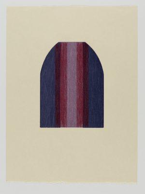 Graphic Studio Dublin •Tom Phelan: Lipstick IV woodblock Japanese Bunkoshi paper 56 x 43 cm image size: 28 x 20.5 cm top border from paper: 12cm edition of 12