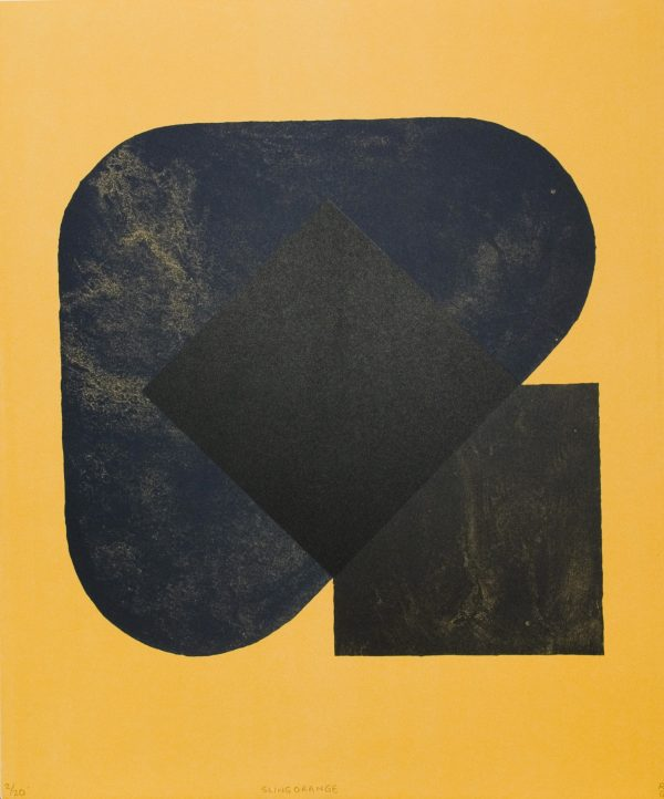 Graphic Studio Dublin: Richard Gorman, Sling Orange