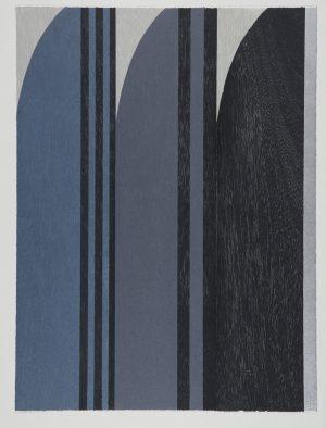 Graphic Studio Dublin •Tom Phelan: Three Grays for Eileen woodblock German etch Zerkall 80 x 60 cm no border (bleeds off paper) edition of 30