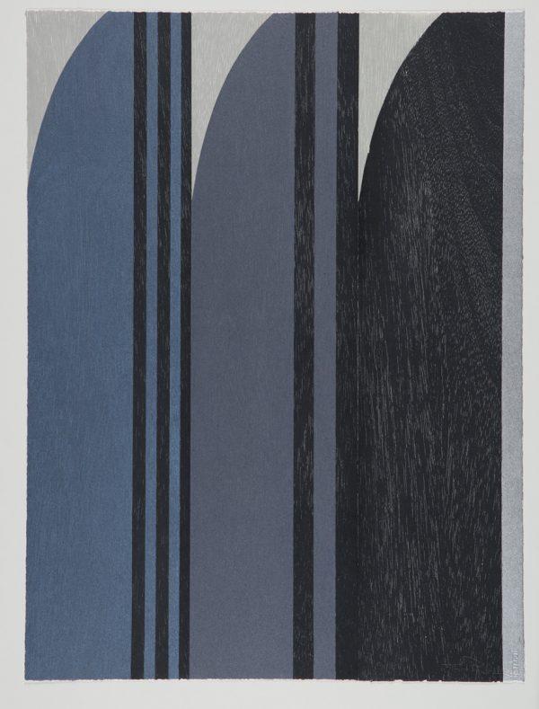 Three Grays for Eileen woodblock German etch Zerkall 80 x 60 cm no border (bleeds off paper) edition of 30