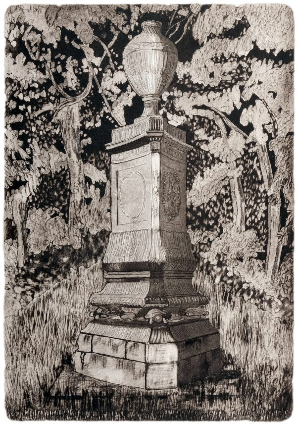 4. Adrienne Symes. Sarsfield Monument Lucan. Etching,Aquatint (2.83MB)