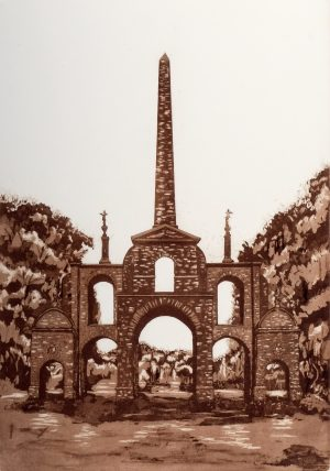 Graphic Studio Dublin • Adrienne Symes: 7. Adrienne Symes. Conolly Folly. Etching,Aquatint (1.31MB)