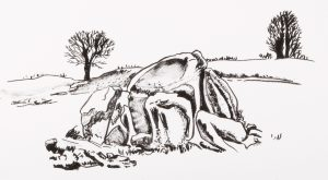 Graphic Studio Dublin • Adrienne Symes: 9. Adrienne Symes. Giant's Ring Dolmen. Lithograph (819KB)