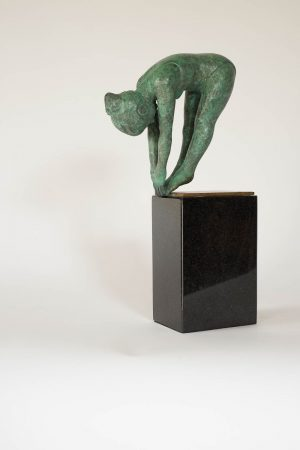 Graphic Studio Dublin • Michael Killen: The Diver Medium: Bronze on Granite Edition Number: 1 / 7 Size: 330 mm x 160 mm x 78 mm (13 inches x 6 inches x 3 inches base included).