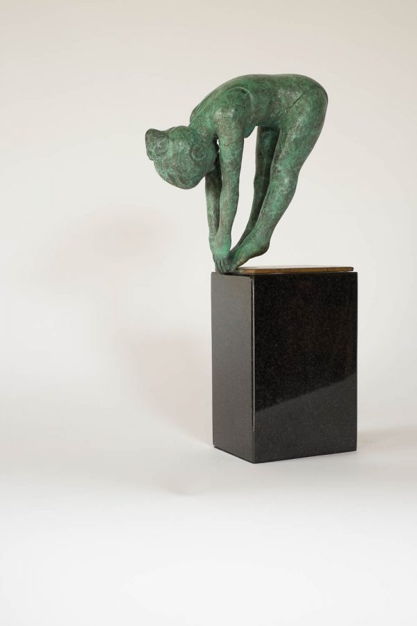 The Diver Medium: Bronze on Granite Edition Number: 1 / 7 Size: 330 mm x 160 mm x 78 mm (13 inches x 6 inches x 3 inches base included).
