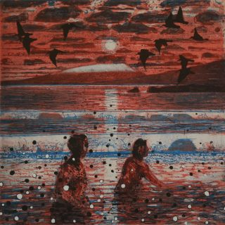 Nial Naessens, Winter Swimmers and Oyster Catcher