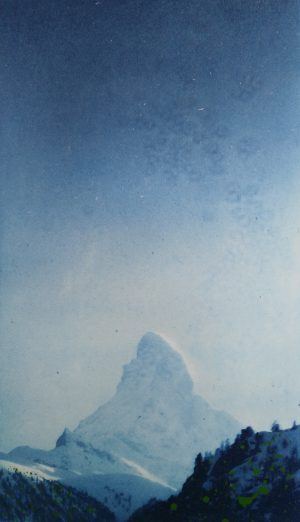 Graphic Studio Dublin • Paul Fitters: Title:Matterhorn Medium: photo etching on Fabriano paper Edition number 1/10 Paper and plate size: not sure about paper size, Plate size: 16,5x28 cm Unframed price: €100