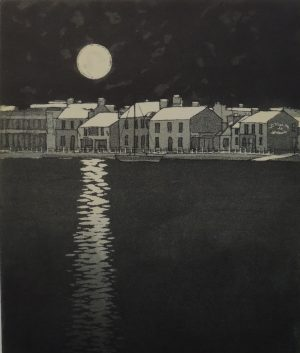 Graphic Studio Dublin • Mary Grey: Moonlight, Skerries Harbour