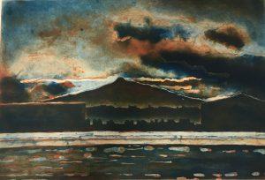 Graphic Studio Dublin •Julie Ann Haines: Dark is the night - etching