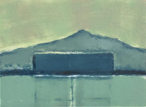 Julie Ann Haines, Poolbeg 1 (early evening) Monotype Plate 16.5 x 12 Paper 26.5cm x 23cm Framed €230 Unframed €195