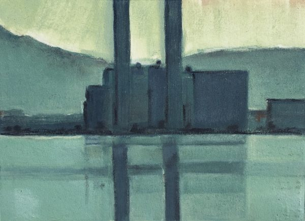 Julie Ann Haines, Poolbeg 3 (early evening) Monotype Plate 16.5 x 12 Paper 26.5cm x 23cm Framed €230 Unframed €195