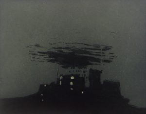 Graphic Studio Dublin •Vaida Varnagiene: Castle Nowhere, Intaglio etching, plate size 18 x 23 cm, paper size 28 x 31 cm, gallery price 110 Euro, frame 35 Euro
