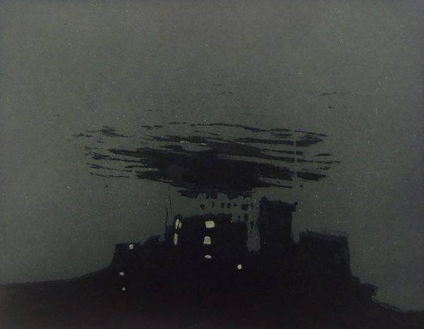 Castle Nowhere, Intaglio etching, plate size 18 x 23 cm, paper size 28 x 31 cm, gallery price 110 Euro, frame 35 Euro