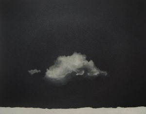 Graphic Studio Dublin •Vaida Varnagiene: Migrating Cloud, Intaglio etching, plate size 18 x 23 cm, paper size 28 x 31 cm, gallery price 110 Euro, frame 35 Euro