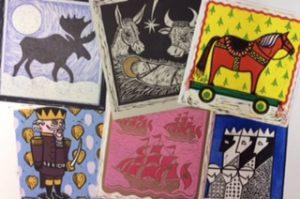 Graphic Studio Dublin: Linocut Christmas Card Workshop : 21 & 22 November 2020 SOLD OUT