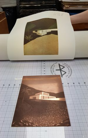 Graphic Studio Dublin: Printing Day: Sunday 16th June 2019