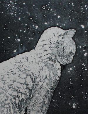 Graphic Studio Dublin •Camilla Fanning: Snow Cat