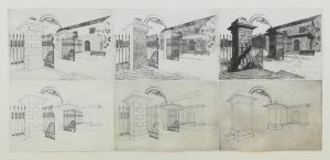 Graphic Studio Dublin: Eimhin Farrell, Hope Castle Gates, Castleblayney: A Progression