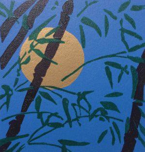 Graphic Studio Dublin •Gerard Cox: Full_moon_and_Bamboo