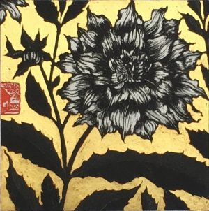 Dahlia with gold leaf, Jean Bardon