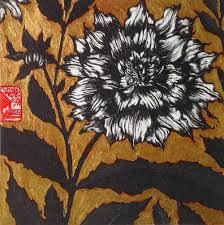 Dahlia with gold leaf, Jean Bardon