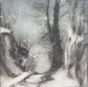 Graphic Studio Dublin •Marie-Louise Martin: winterwoods, Marie Loiuse Martin