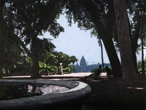 Graphic Studio Dublin • Louise Leonard: Graphic Studio Dublin: Rome from The Pincio (after Corot), Louise Leonard