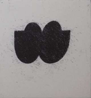 B Kiss, Etching, 1997, Edition of 30, 226x210mm.
